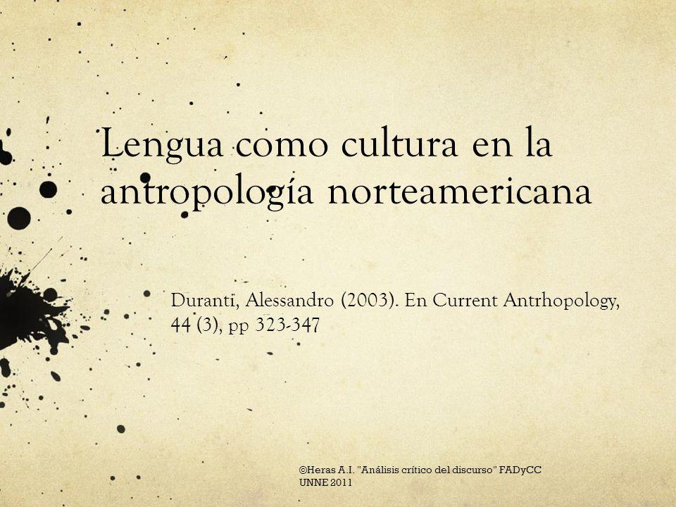 Tres paradigmas Documentación y descripción general de las lenguas (en particular de lenguas indígenas norteamericanas).