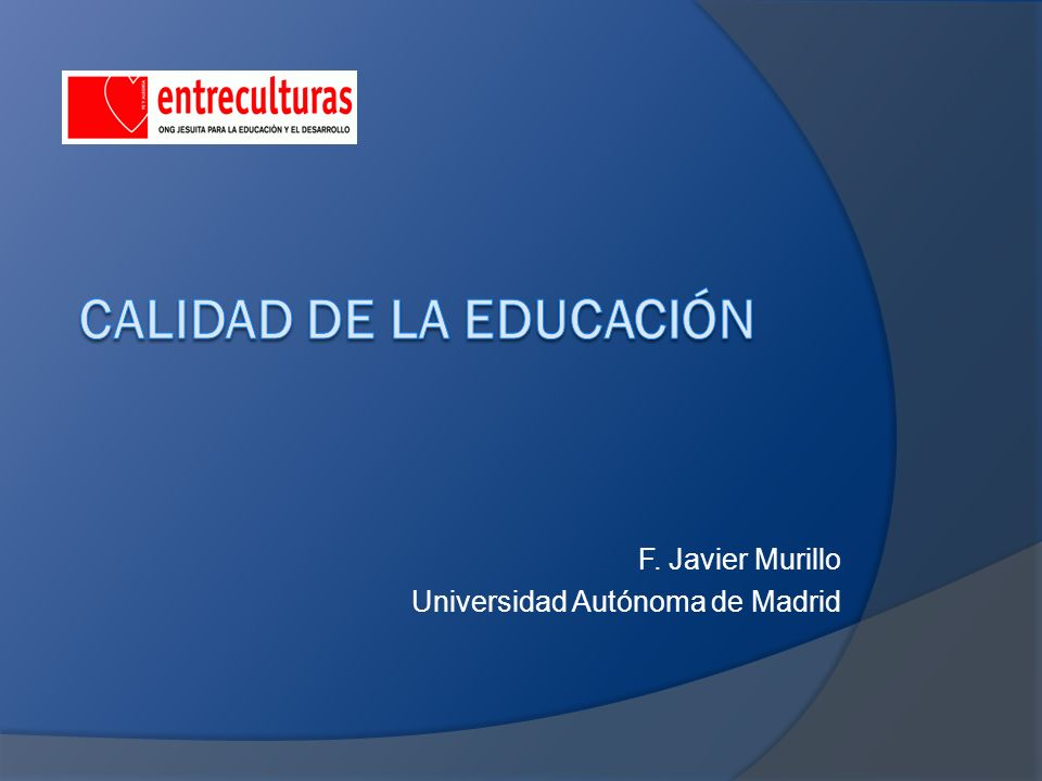 F. Javier Murillo Universidad Autónoma de Madrid