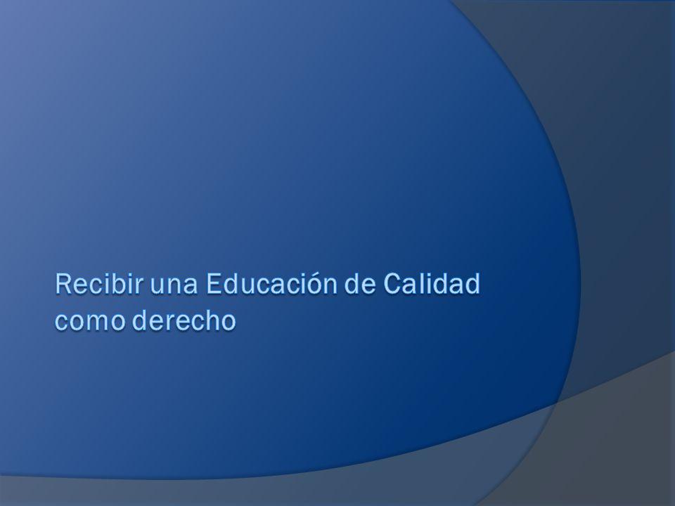 FactoresdeCalidad Factores de Calidad Una escuela de calidad no es la suma de elementos aislados.