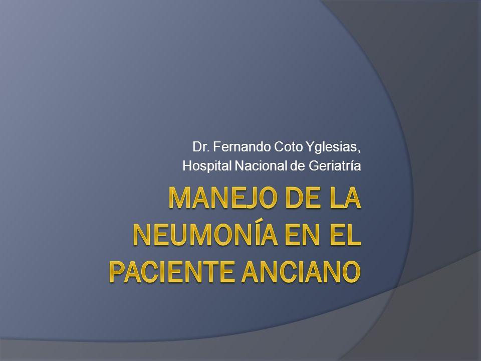 Dr. Fernando Coto Yglesias, Hospital Nacional de Geriatría