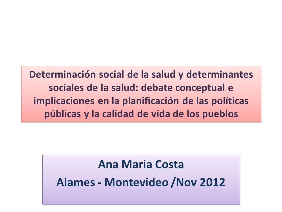 Por un concepto de Determinacion Social en Salud Informe OMS – 2008.