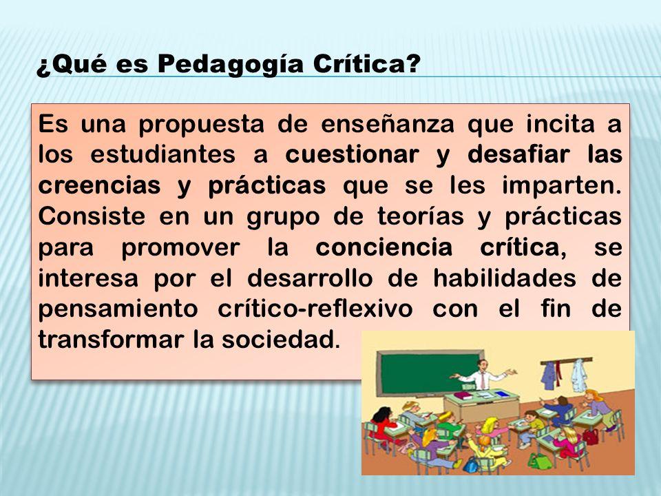¿Qué es Pedagogía Crítica.