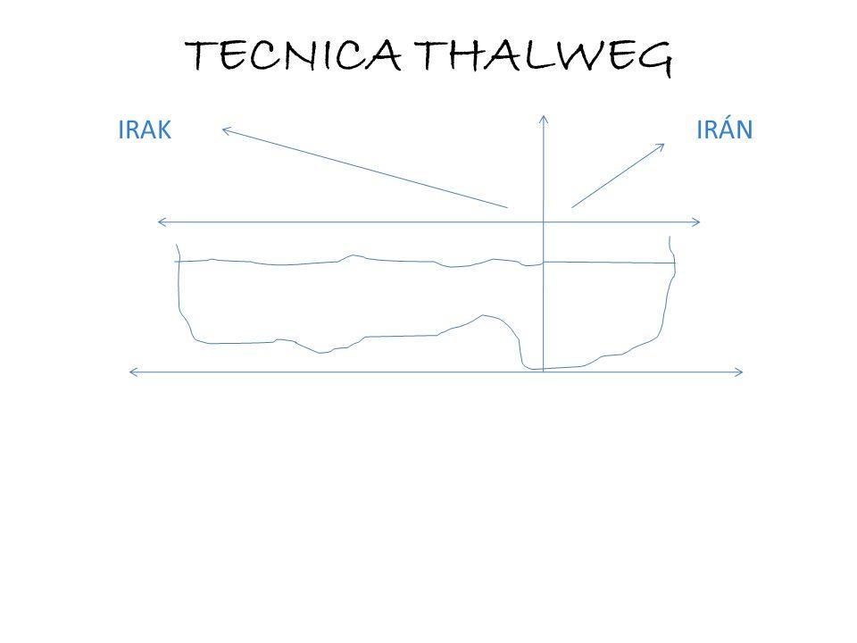 IRAK IRÁN TECNICA THALWEG