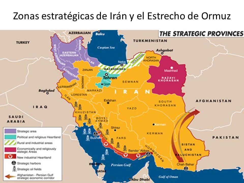 Zonas estratégicas de Irán y el Estrecho de Ormuz