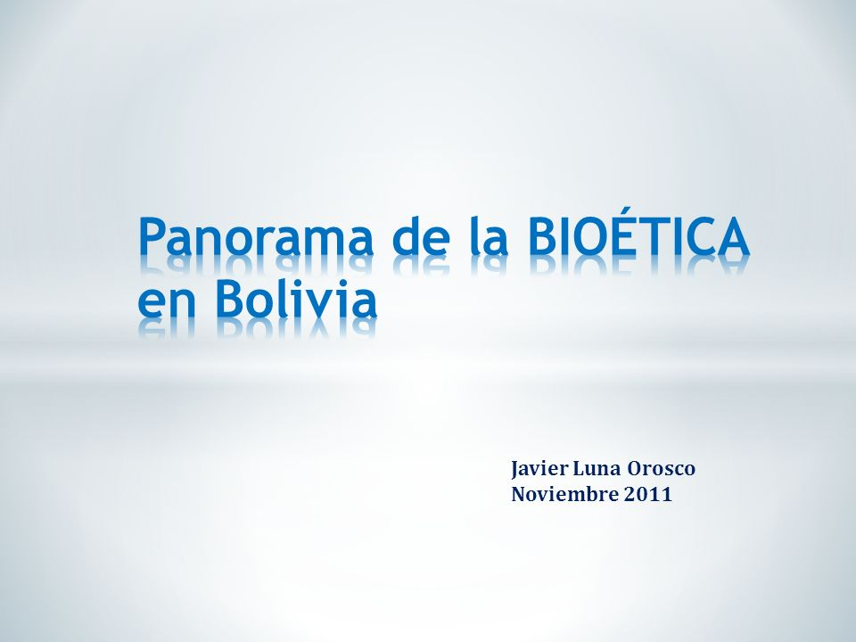 Javier Luna Orosco Noviembre 2011