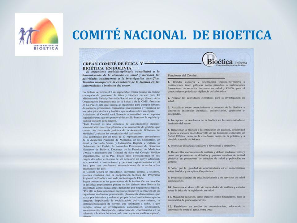 COMITÉ NACIONAL DE BIOETICA