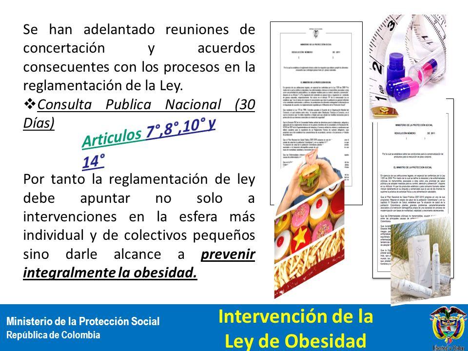 Ministerio de la Protección Social República de Colombia Se han adelantado reuniones de concertación y acuerdos consecuentes con los procesos en la re