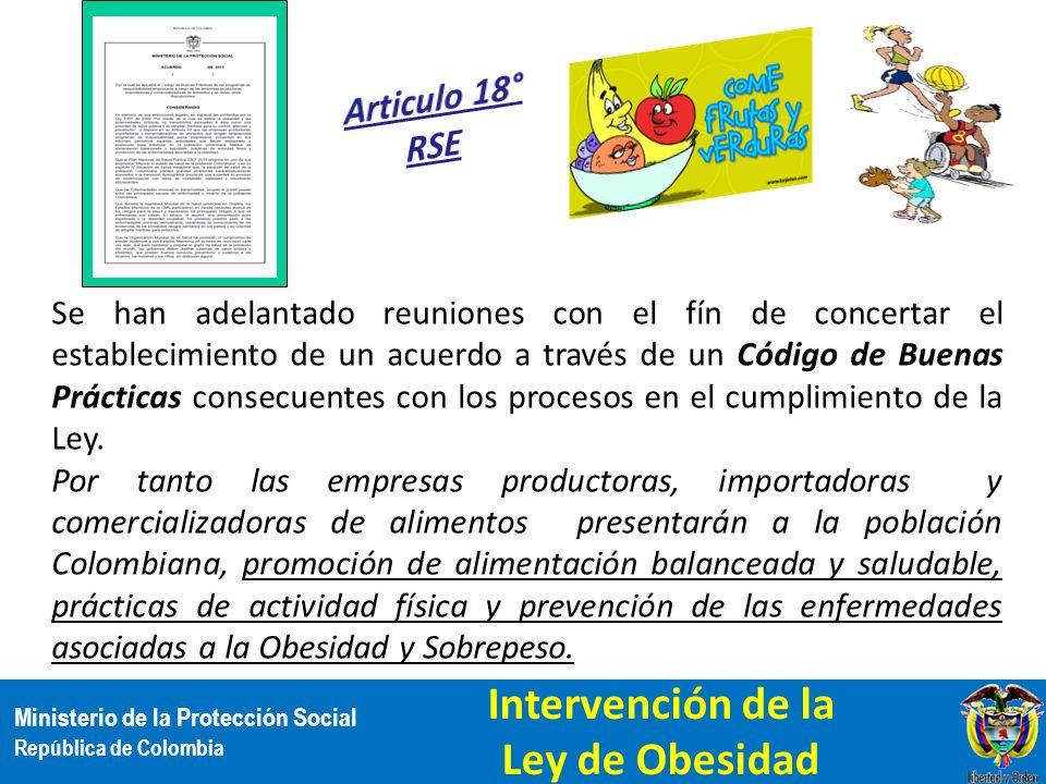 Ministerio de la Protección Social República de Colombia Se han adelantado reuniones con el fín de concertar el establecimiento de un acuerdo a través