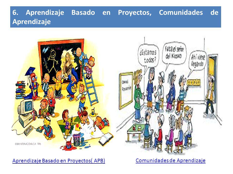 6. Aprendizaje Basado en Proyectos, Comunidades de Aprendizaje Comunidades de Aprendizaje Aprendizaje Basado en Proyectos( APB)