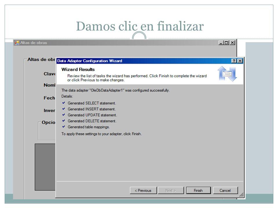 Luego generamos un Dataset y damos clic en ok.