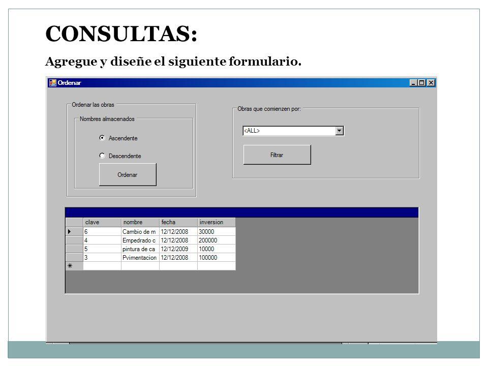 Nombres de los controles del formulario consultas: cboNombres rbtNombresa rbtNombresd cmdSort gridobras cmdNames