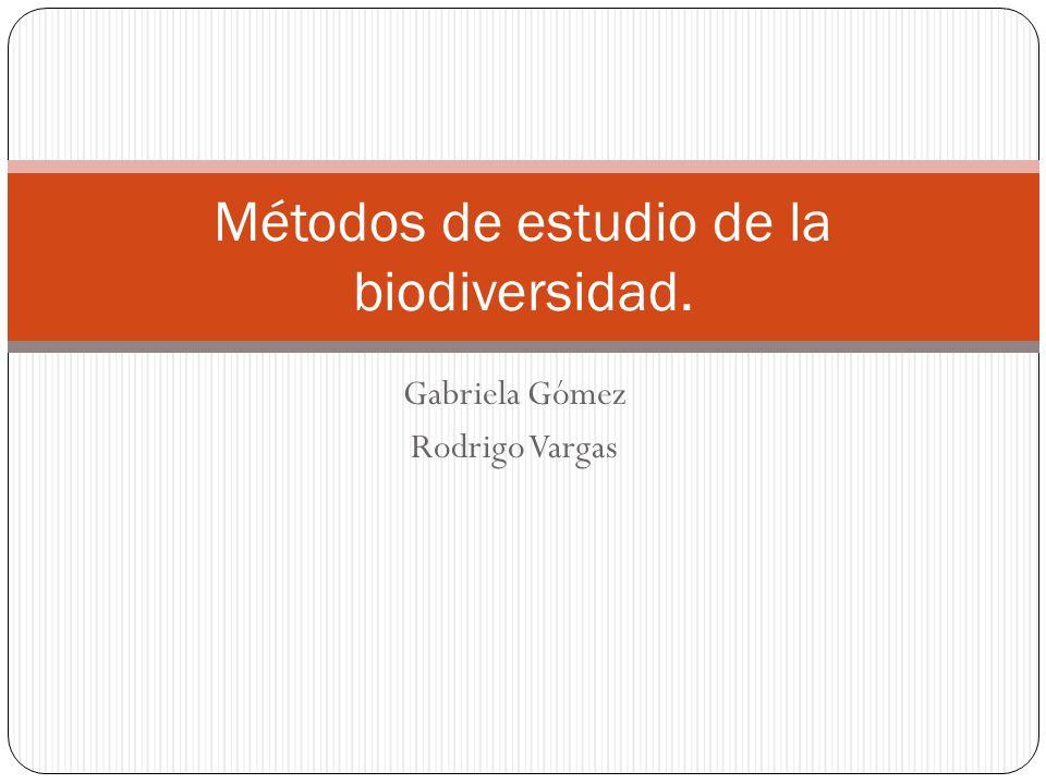 Gabriela Gómez Rodrigo Vargas Métodos de estudio de la biodiversidad.