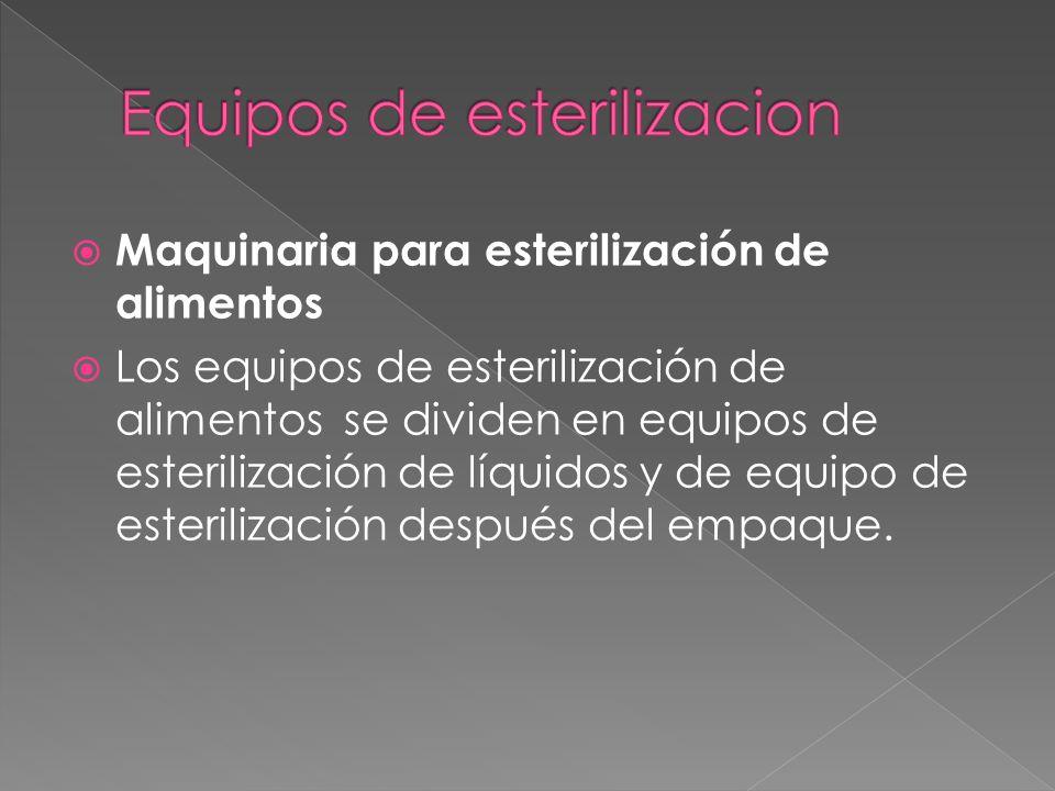Maquinaria para esterilización de alimentos Los equipos de esterilización de alimentos se dividen en equipos de esterilización de líquidos y de equipo