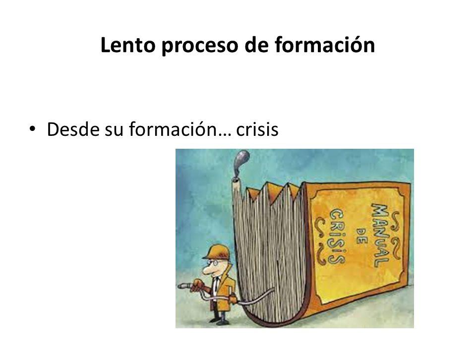 Lento proceso de formación Desde su formación… crisis