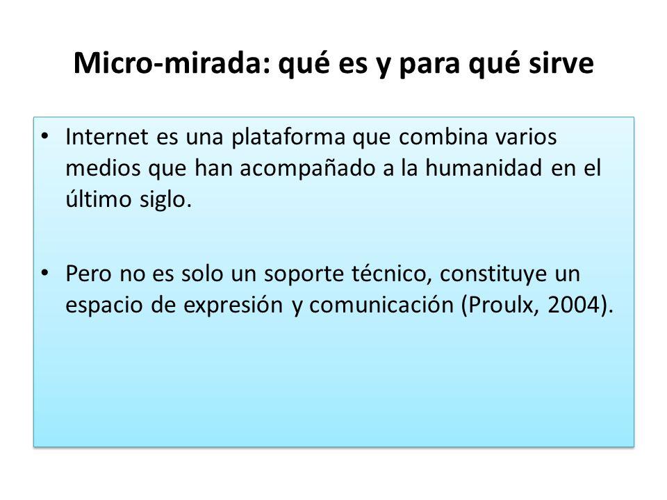 Micro-mirada: qué es y para qué sirve Internet es una plataforma que combina varios medios que han acompañado a la humanidad en el último siglo. Pero