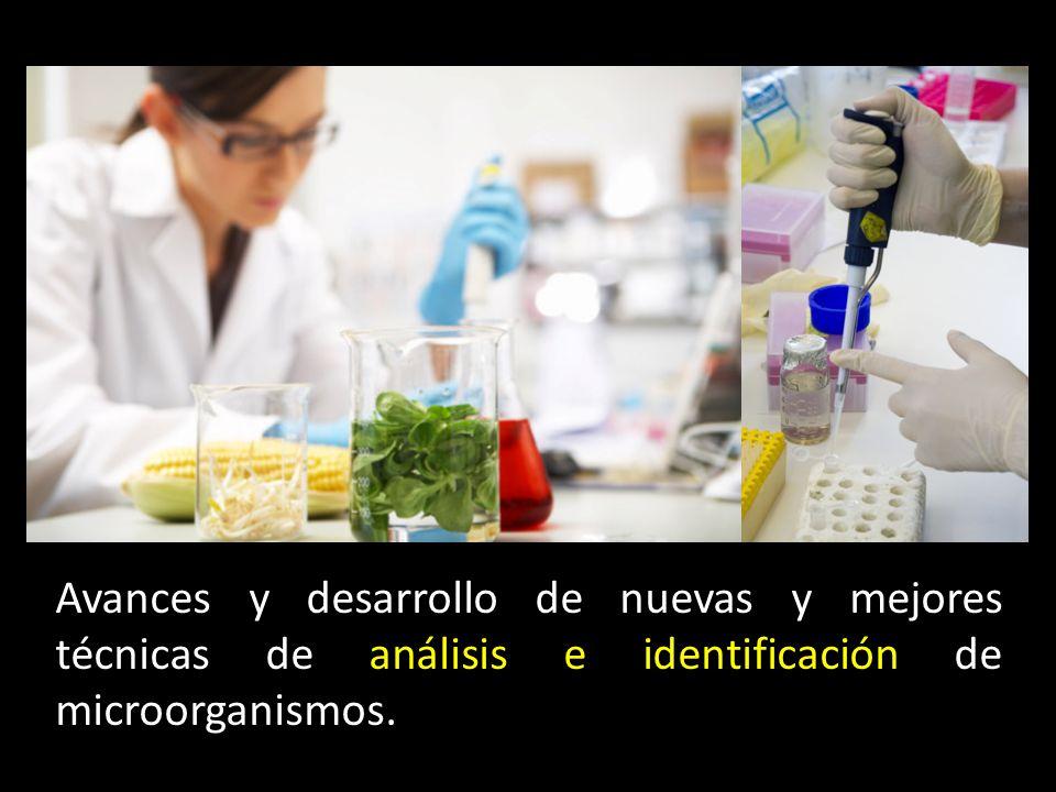 Avances y desarrollo de nuevas y mejores técnicas de análisis e identificación de microorganismos.
