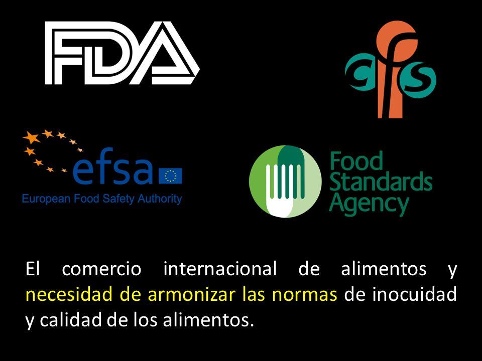 El comercio internacional de alimentos y necesidad de armonizar las normas de inocuidad y calidad de los alimentos.