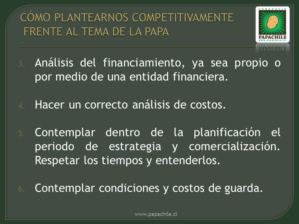 3. Análisis del financiamiento, ya sea propio o por medio de una entidad financiera.