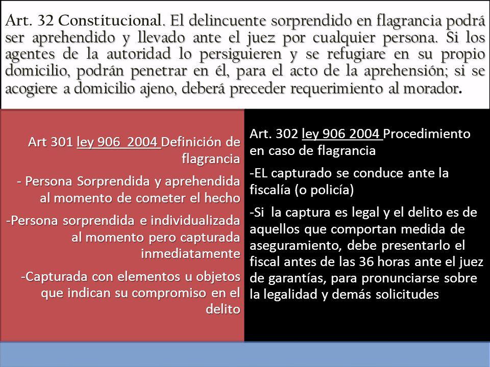 Principios Generales de la privación de la libertad: Código de Procedimiento art 295 y 296 Reiteración del 250 constitucional y Principio rector art.