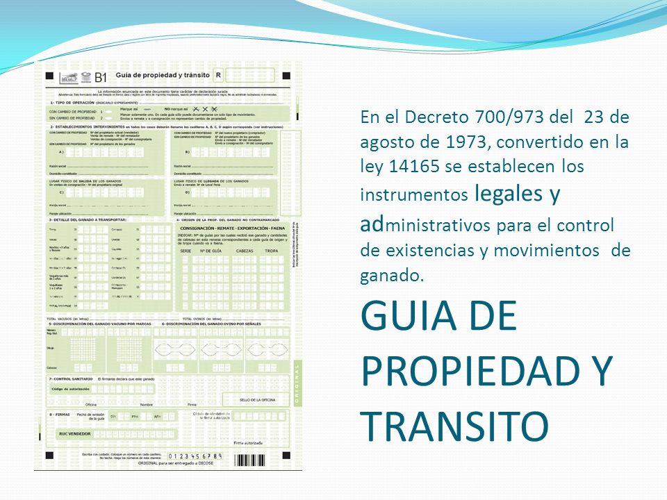 En el Decreto 700/973 del 23 de agosto de 1973, convertido en la ley 14165 se establecen los instrumentos legales y ad ministrativos para el control d