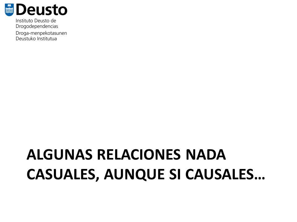 ALGUNAS RELACIONES NADA CASUALES, AUNQUE SI CAUSALES…