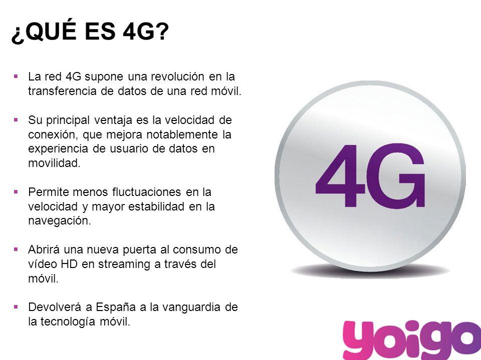 2 ¿QUÉ ES 4G. La red 4G supone una revolución en la transferencia de datos de una red móvil.