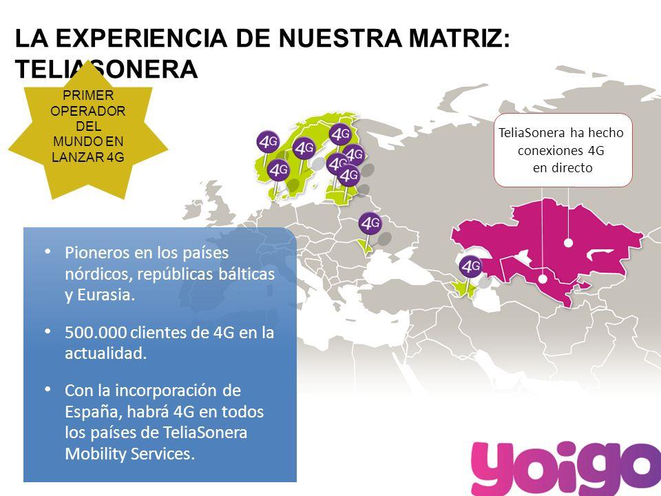 5 4G EN ESPAÑA Yoigo será la primera operadora en lanzar 4G en España.
