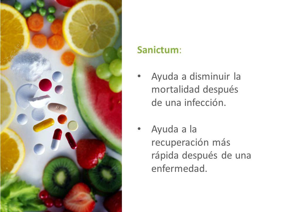 Sanictum: Ayuda a disminuir la mortalidad después de una infección.