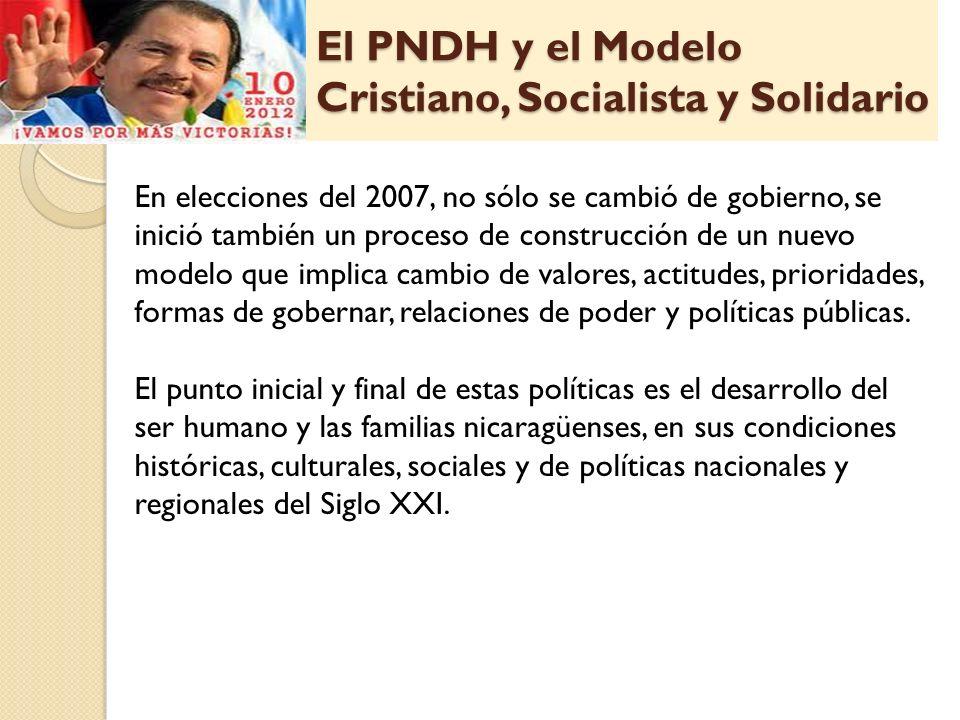 El PNDH y el Modelo Cristiano, Socialista y Solidario En elecciones del 2007, no sólo se cambió de gobierno, se inició también un proceso de construcc