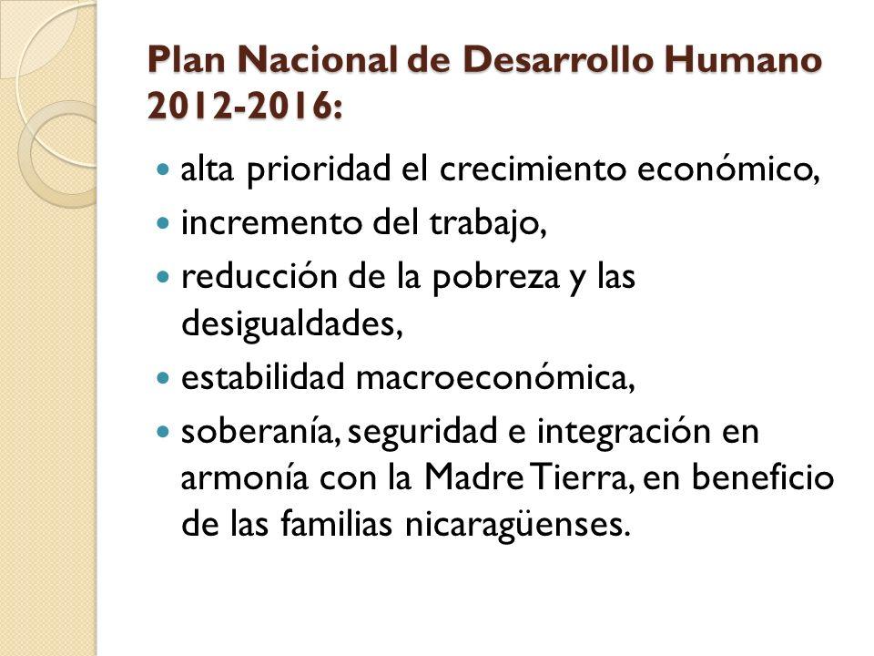 Plan Nacional de Desarrollo Humano 2012-2016: alta prioridad el crecimiento económico, incremento del trabajo, reducción de la pobreza y las desiguald