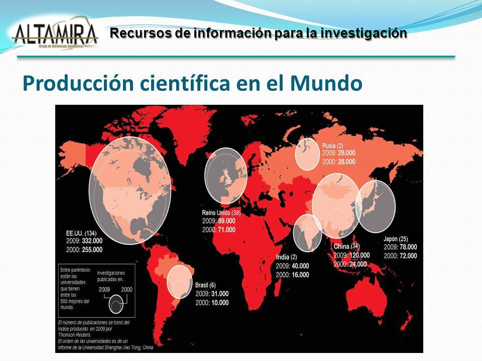 Producción científica en el Mundo