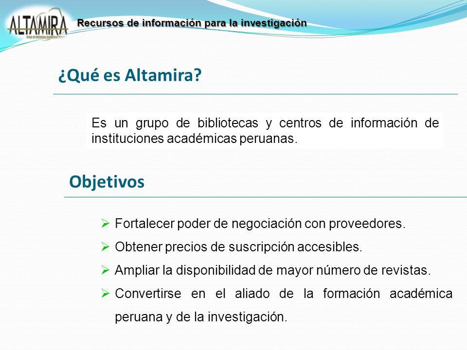 Es un grupo de bibliotecas y centros de información de instituciones académicas peruanas. Fortalecer poder de negociación con proveedores. Obtener pre