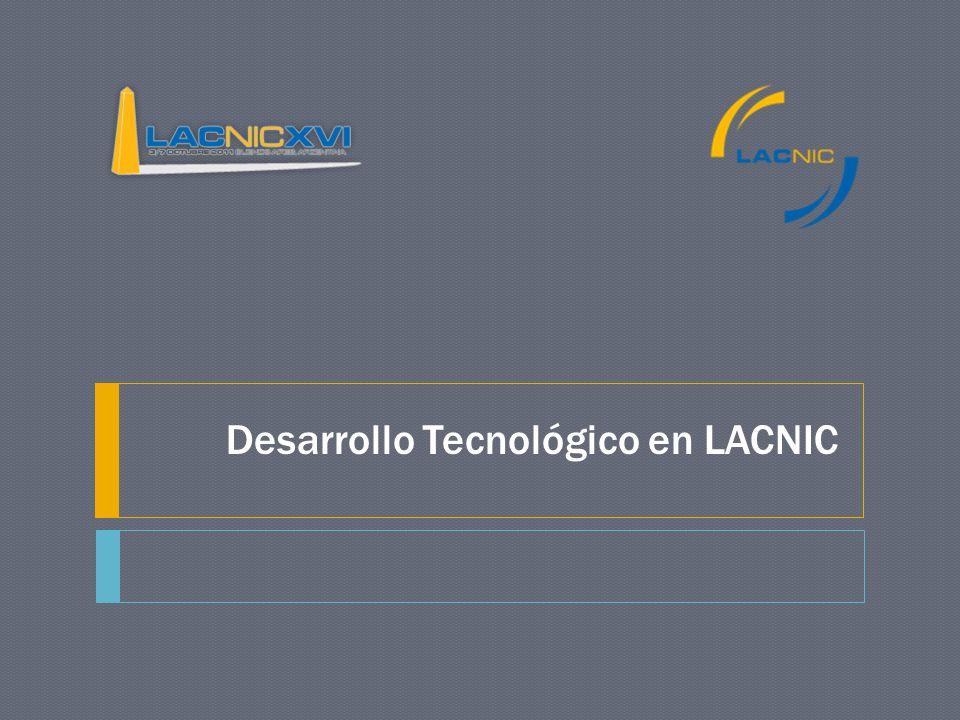 Resumen de Actividades Mejoramiento de infraestructura Red Montevideo y São Paulo Sistema de telefonía Sistema de almacenamiento Desarrollos de software e investigación LACNIC labs RPKI, desarrollo de software y demos en acción DNSSEC Desarrollo de materiales IPv6