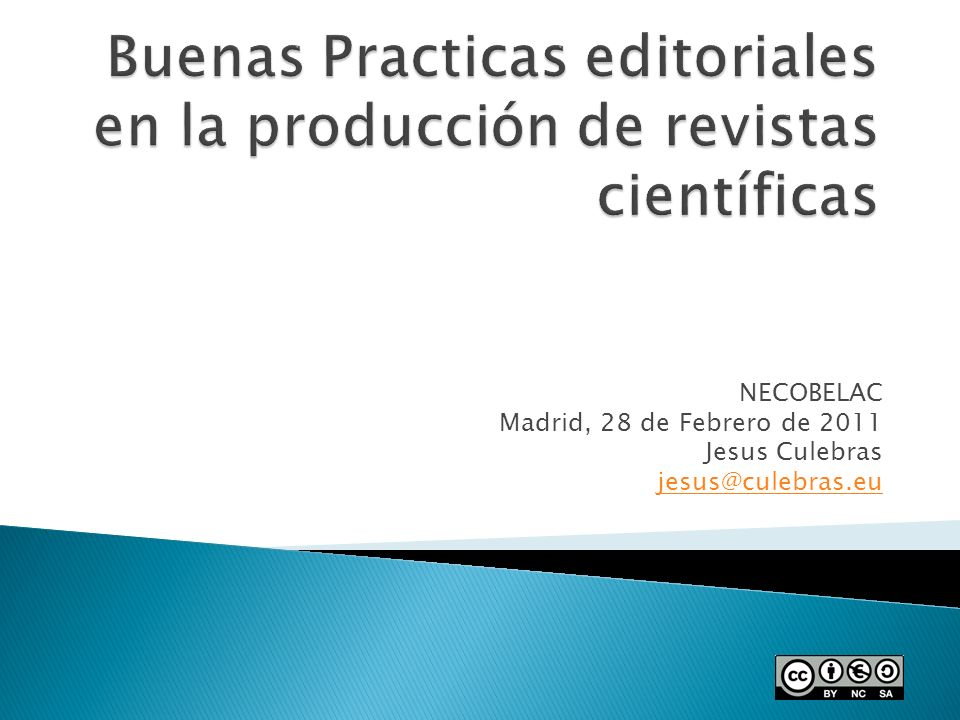 NECOBELAC Madrid, 28 de Febrero de 2011 Jesus Culebras jesus@culebras.eu