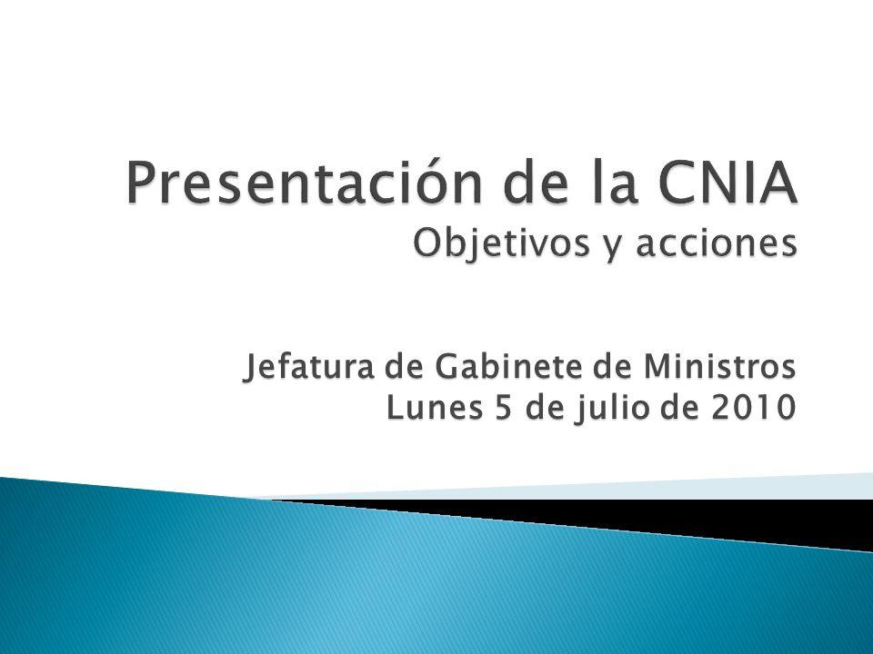 Jefatura de Gabinete de Ministros Lunes 5 de julio de 2010