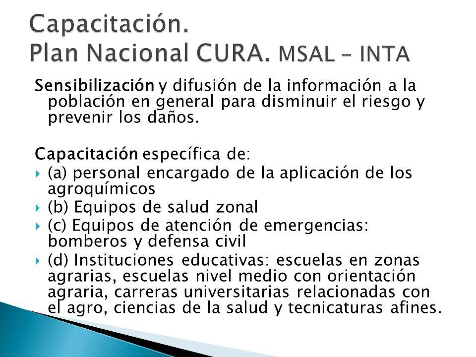 Sensibilización y difusión de la información a la población en general para disminuir el riesgo y prevenir los daños.