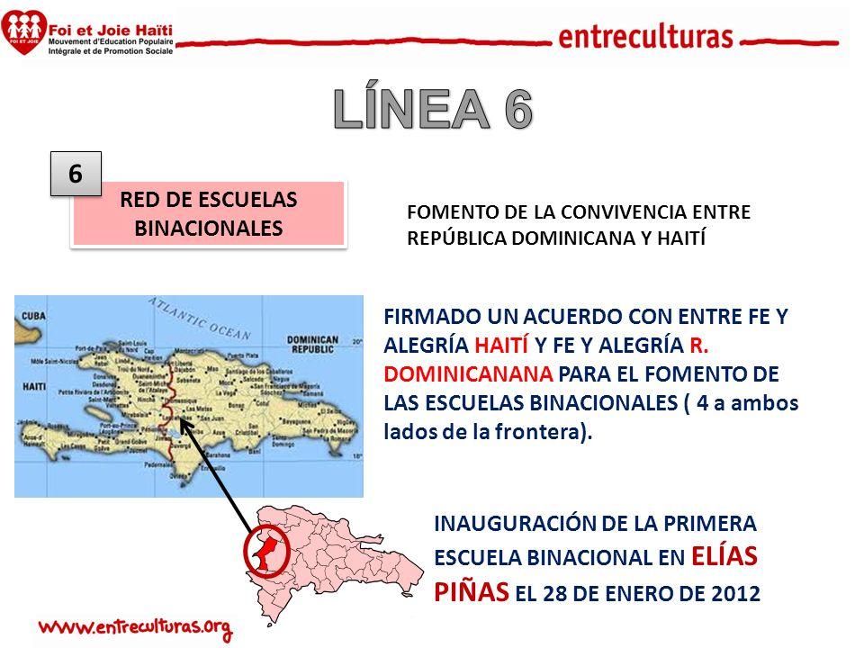 RED DE ESCUELAS BINACIONALES 6 6 FIRMADO UN ACUERDO CON ENTRE FE Y ALEGRÍA HAITÍ Y FE Y ALEGRÍA R.