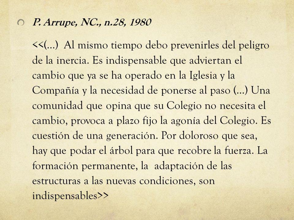 P. Arrupe, NC., n.28, 1980 >