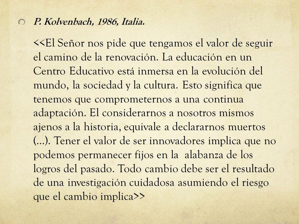 P. Kolvenbach, 1986, Italia. >