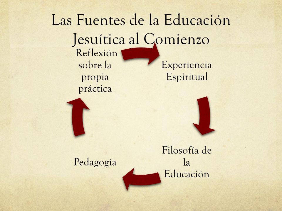 Las Fuentes de la Educación Jesuítica al Comienzo Experiencia Espiritual Filosofía de la Educación Pedagogía Reflexión sobre la propia práctica