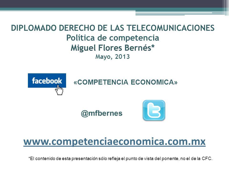La Política de Competencia en el sector de las telecomunicaciones 1.- Situación del sector de las telecomunicaciones y estructura de mercados.