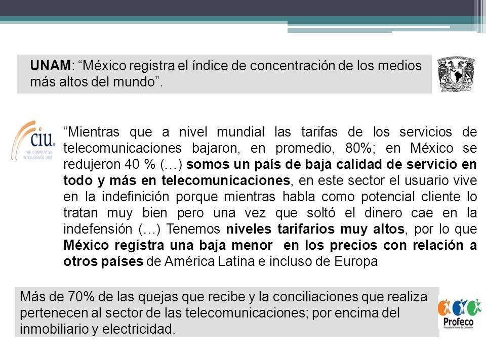 66 1.Las disputas entre los operadores de las telecomunicaciones. 2. Reformas a la LFCE.
