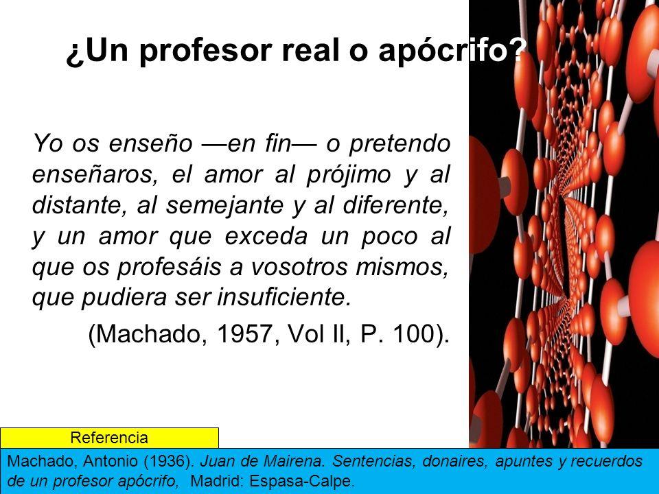 ¿Un profesor real o apócrifo.