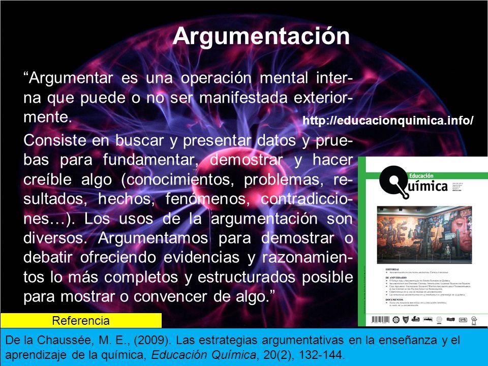 Argumentación Argumentar es una operación mental inter- na que puede o no ser manifestada exterior- mente.