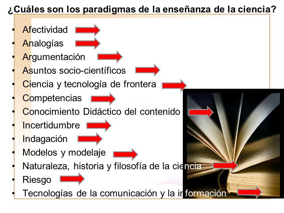 ¿Cuáles son los paradigmas de la enseñanza de la ciencia.