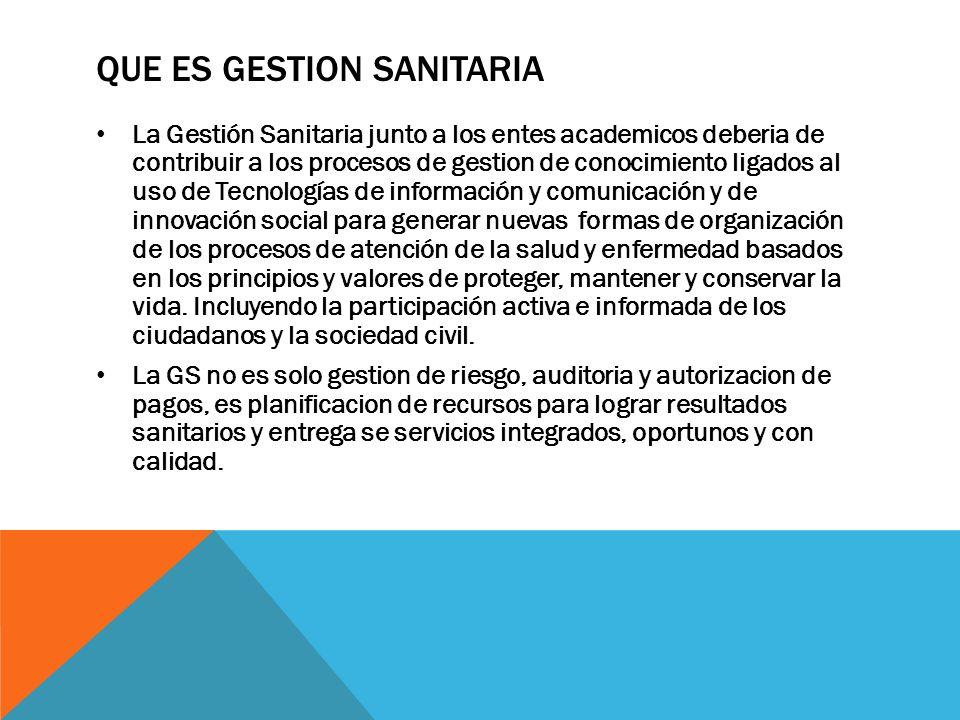 FUNCIONES DE LA GESTIÓN INTEGRAL DE LA SALUD (GESTIÓN SANITARIA) Una nueva oportunidad en Colombia para la salud Publica el regreso al TERRITORIO ( al espacio de las necesidades de la salud de los ciudadanos de sus entornos, de sus lugares y de lo cuotidiano).