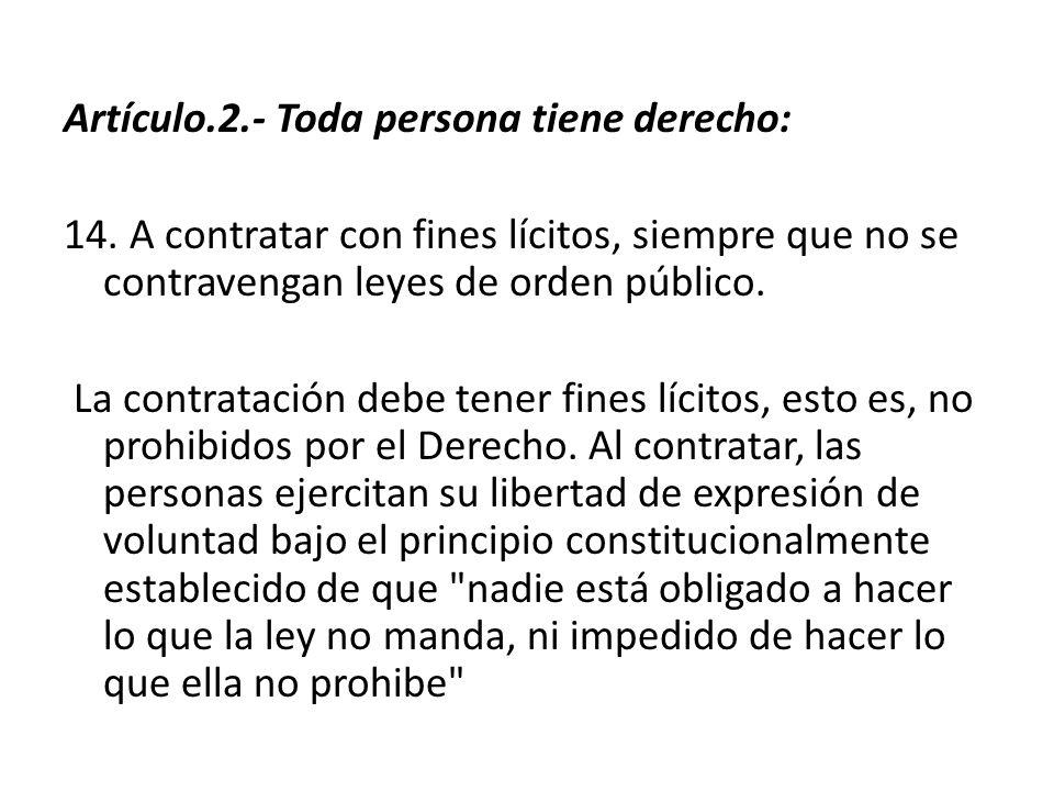 Artículo.2.- Toda persona tiene derecho: 14.