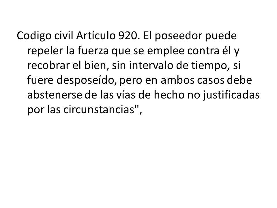 Codigo civil Artículo 920.