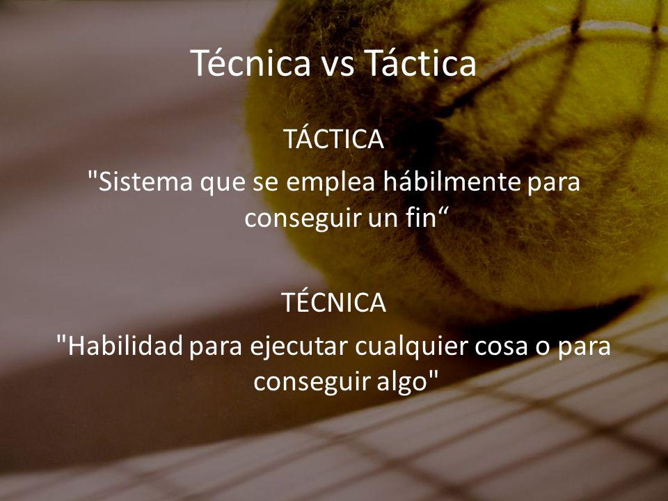 Técnica vs Táctica TÁCTICA
