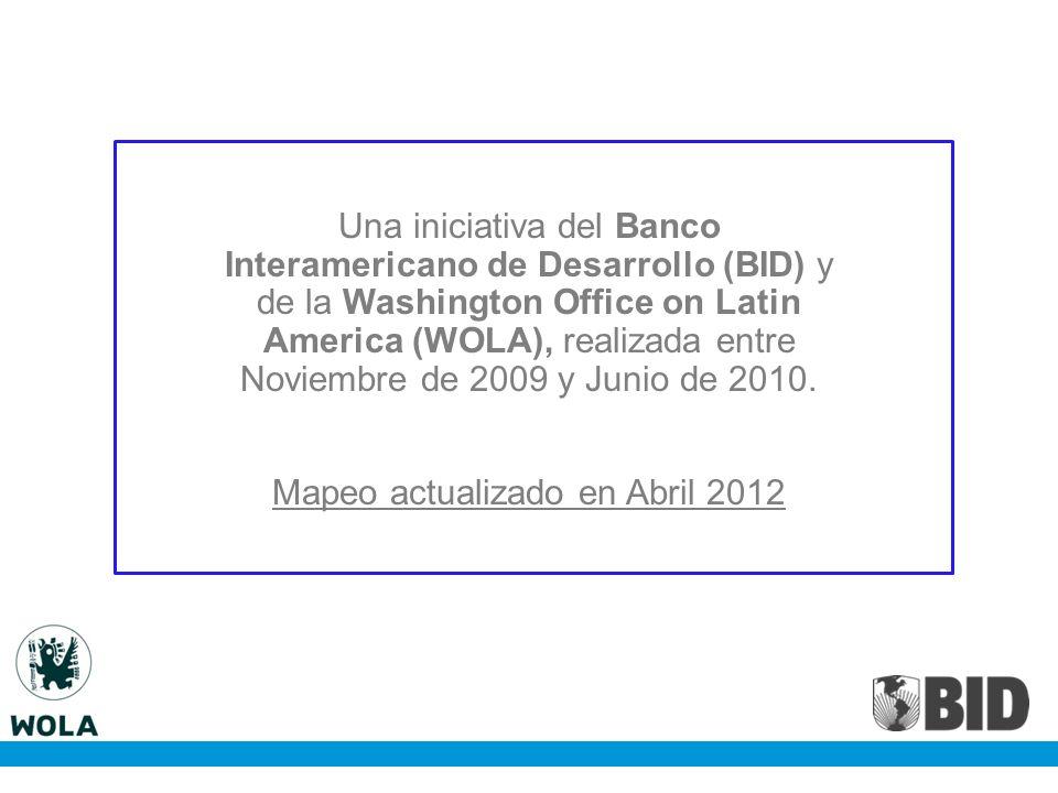 17.6% 4.8% 3.6% 73.5% 0.5% 0.1% Principales cooperantes por área: Rehabilitación